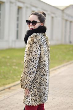 How to wear an animal print coat on a winter outfit : MartaBarcelonaStyle's Blog