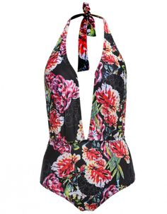Product Description: Sexy Women Halter Backless Floral Print One-Piece Bikini Swimwear Swimsuit Beach Wear. Unique style, create a illusion for stunning curves, make you more beautiful, fashion, sexy
