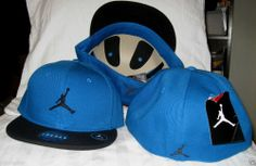 MICHAEL JORDAN NIKE AIR JORDAN FLYCON FITTED BLUE BLACK HAT CAP SZ 7-3 8 NWT 4a3f2f4ede1fd