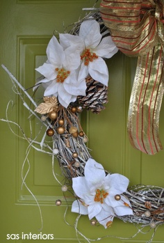 Winter Wreath Creation via sasinteriors.net