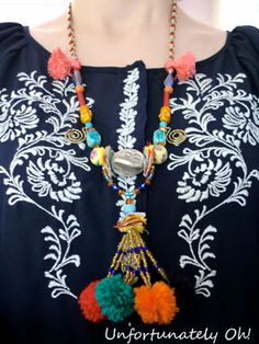Pompom Necklace DIY