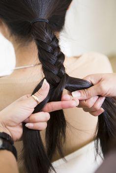 Box Fishtail Braid Hair Tutotorial