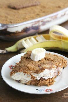 Trifle met bastogne banaan en chocolade - De Zoetekauw Sweet Recipes, Cake Recipes, Snack Recipes, Dessert Recipes, Snacks, Food Cakes, My Dessert, Trifle, Tasty Dishes
