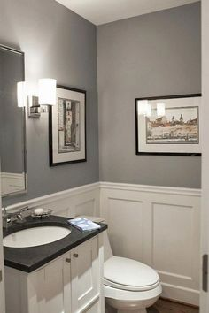 Ambrosial Simple Bathroom Remodel Back Splashes Ideas 10 Exceptional Cool Ideas: Bathroom Remodel Storage bathroom remodel wood wall.Basement Bathroom Remodel Pictures guest bathroom remodel board and batten. Faux Wainscoting, Wainscoting Bathroom, Bathroom Interior, Modern Bathroom, Master Bathroom, 1950s Bathroom, Basement Bathroom, Wainscoting Ideas, Bathroom Sinks