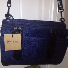 2012 Matt & Nat Bookie SR Handbag Purse In Navy SALE Fall   eBay