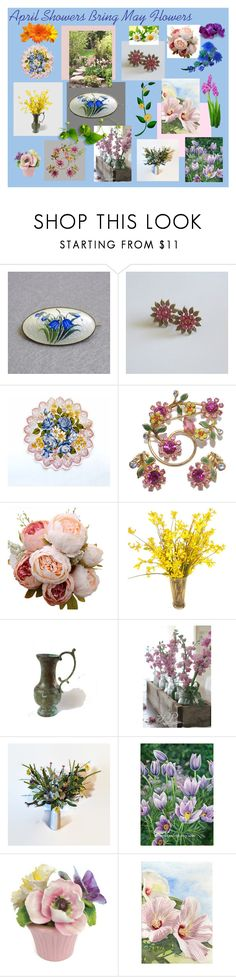 """April Showers Bring May Flowers"" by anna-ragland ❤ liked on Polyvore featuring vintage"