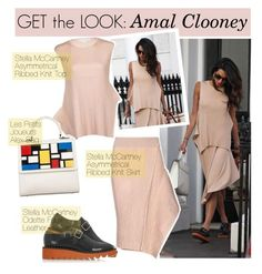 """""""Get the look: Amal Clooney"""" by georginamaybrown ❤ liked on Polyvore featuring STELLA McCARTNEY and Les Petits Joueurs"""