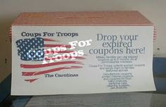 How to send expired coupons to military families...Commissaries overseas will accept expired coupons up to 6 months past their expiration date.