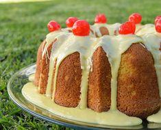 Exquisito Bundt Cake de rompope y cerezas ¡No te pierdas la receta! Cheesecake, Cooking Recipes, Pudding, Sugar, Desserts, Food, Deserts, Breads, Cheesecakes