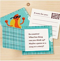 Aw, lunch mail lunchbox notes. So sweet for those early days of school when you can't be there.