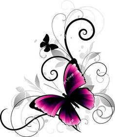 "Wall Mural ""butterfly, gothic, emo - abstract"" ✓ Easy Installation ✓ 365 Day Money Back Guarantee ✓ Browse other patterns from this collection! Neue Tattoos, Body Art Tattoos, Tattoo Drawings, Cool Tattoos, Tatoos, Skull Tattoos, Sleeve Tattoos, Butterfly Tattoo Designs, Butterfly Art"