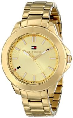 Tommy Hilfiger Womens 1781413 GoldTone Watch ** Read more reviews of the product by visiting the link on the image.