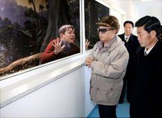 Kim Jong Il, looking at things