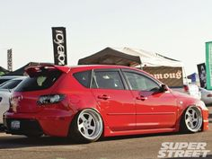 Advice: Please avoid all humps at all costs! Awesome Mazda 3 hatchback with cambered rear.