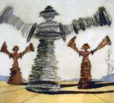 Historia De Don Quichotte De La Mancha - The Spinning Man 1980 by Salvador Dali