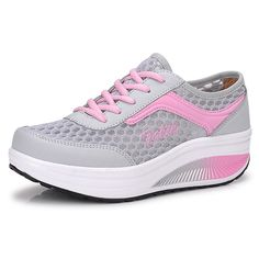 Ms. lightweight mesh shoes/Breathable hollow slope with platform shoes/Sports shoes ** Read more  at the image link.