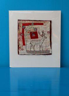 textile art, mini quilt