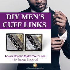 Wow, these DIY cuff links are so smart! They're really classy looking and they'd be the perfect gift for groomsmen. I can't believe that they're handmade! The tutorial shows you how to make cuff links with UV resin - you just have to decide what items to embed. #MillLaneStudio #giftsforgroomsmen #cufflinksforthegroom #classycufflinks #diymensaccessories #howtomakecufflinks #resincufflinks Diy Gifts For Men, Handmade Gifts, Link And Learn, How To Make Resin, Resin Tutorial, Resin Jewellery, Old Computers, Uv Resin, Diy Home Decor Projects