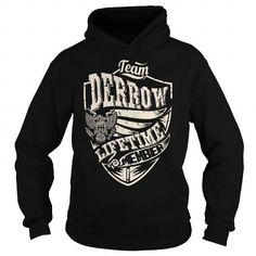 I Love Last Name, Surname Tshirts - Team DERROW Lifetime Member Eagle T shirts