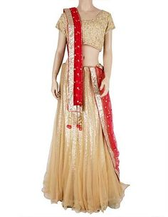 G3 exclusive net readymade beige lehenga choli Product code - G3-WLC1089 Price - INR 19156/-