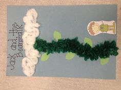 Jack and the Beanstalk craft for kindergarten!