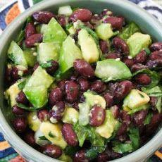 Tomatillo and Black Bean Salsa with Avocado, Lime, and Cilantro Recipe