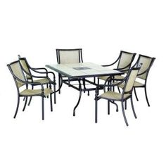 7 piece outdoor dining set for only  449  We re going to be gettingMartha Stewart Living Mallorca II Patio Dining Chairs  6 Pack  . Outdoor Dining Chairs Only. Home Design Ideas