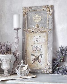 This beautiful, rustic wall decor by is handmade with her signature style! She used Decor Transfer™️Parisian… Shabby Chic Vintage, Shabby Chic Decor, Vintage Style, Rustic Wall Decor, Rustic Walls, French Decor, French Country Decorating, Shabby Chic Furniture, Painted Furniture