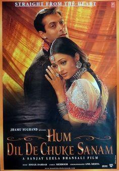 "Hum Dil De Chuke Sanam (1999) This Salman Khan, Ajay Devgan and Aishwarya Rai starer was directed by Sanjay Leela Bhansali. Music was by Ismail Darbar had great songs like ""Doli Taro Dhol Baje"", ""Nimbooda"", ""Jhokha Hawa Ka"" and my favorite ""Aankhon Ki Gustakhiyan""."