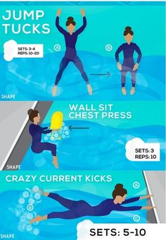15-Minute Pool Exercise Routine For Rapid Weight Loss – FITNESS
