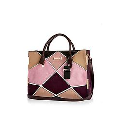 How gorgeous is this patchwork tote handbag, Autumnal colours coming through and we love it! #RiverIsland