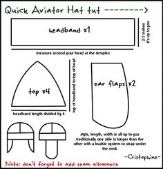 Aviator Hat Pattern aviator hat pattern pattern aviator hat part 1 kjiram on deviantart, aviator hat pattern catwoman aviator cap wip part one cosplay amino,. Sewing Tutorials, Sewing Projects, Sewing Patterns, Costume Patterns, Hat Patterns, Diy Projects, Laura Lee, Amelia Earhart Costume, Aviator Hat