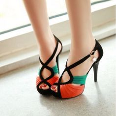 Multicolor Cut Out High Heel Sandal For Women | Daisy Dress for Less | Women's Dresses & Accessories