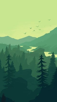 Forest wallpaper iphone, best iphone wallpapers, new wallpaper, mobile wall Iphone Wallpaper Landscape, Scenery Wallpaper, Green Wallpaper, Wallpaper Backgrounds, Forest Wallpaper Iphone, Iphone Wallpapers, Art And Illustration, Mountain Illustration, Minimalist Landscape