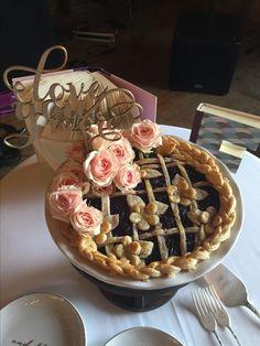 Wedding pie!  Elaborately decorated cake for a summer wedding!