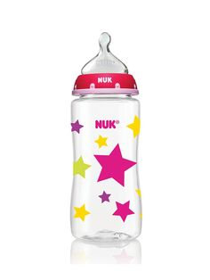 http://www.genderneutralbabyclothes.com/category/nuk/ Stars Orthodontic Bottle | NUK