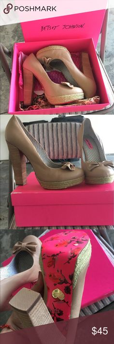 Betsey Johnson Maggi Nude Heel Size 10. Never worn outside. Perfect condition. Betsey Johnson Shoes Heels