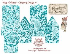 Wings of Whimsy Christmas Cottage 10 of 25 Free Printable 3d Cottage Printing all 25 now for my next year tree :-)