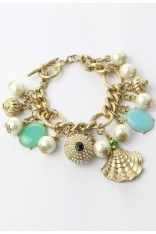 Shell and Pearls Bracelet - Retro, Indie and Unique Fashion