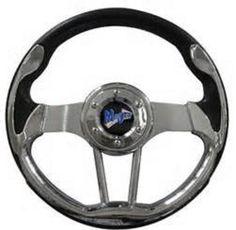 "shopcardinal.com MadJax 13"" VOLT Series Golf Cart Steering Wheel Black Chrome MJVOLTCH NIB CLEARANCE, $83.50 (http://www.cardinalsellingservices.com/madjax-13-volt-series-golf-cart-steering-wheel-black-chrome-mjvoltch-nib-clearance/)"