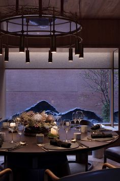Image 17 of 36 from gallery of East & West Restaurant / Horizontal Space Design. Photograph by Xufeng Jing Restaurant Lighting, Restaurant Lounge, Restaurant Design, Seafood Restaurant, Art Nouveau Interior, Asian Restaurants, Japanese Modern, Private Dining Room, Chinese Restaurant