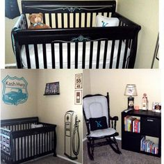 Boys nursery idea, vintage car theme.