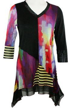 Love it!!! Lior Paris - Split Decision, Watercolor Tunic, Asymmetric Hem & Trimmed V-Neck Lior Paris Clothing,http://www.amazon.com/dp/B008M1BYY0/ref=cm_sw_r_pi_dp_7hSBtb0SF7AR800X