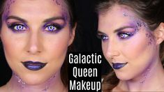 Check out this super simple Halloween costume makeup! Although it was initially supposed to be more of a fairy makeup look, it turned into something more galaxy-inspired. Check out this easy alien costume makeup look!