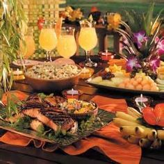 classy luau party ideas - Google Search