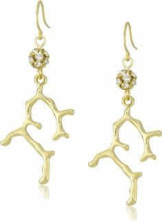 Yochi Sparkle Sea Coral Colored Earrings Yochi. $46.00. Made in USA. Gold-plated finish