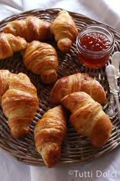 Croissants  ~  I don't think there is anything better than a warm, homemade croissant.