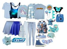 """""""House Pride: Ravenclaw Little"""" by daddys-little-kittenn ❤ liked on Polyvore featuring Converse, River Island, HOT SOX, Splendid, Moschino, Candie's, H&M, 7 For All Mankind, Hollister Co. and Fujifilm"""