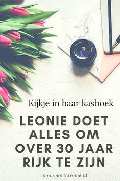 Kijkje in haar kasboek. Leonie doet alles om over 30 jaar rijk te zijn. #beleggen #aandelen #sparen #besparen #porterenee #geld