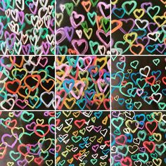 More hearts (I may be a bit obsessed this year). These are in the style of James Goldcrown's famous bleeding hearts murals. It was a great chance to introduce a new artist to my students. Thank you @cassie_stephenz for the legendary tutorial it made my life so much easier this week. You are the best and my students here in Australia love your accent! #heartart #hearts #chalkpastels #jamesgoldcrown #bleedinghearts #childrensart #melbourneartclasses